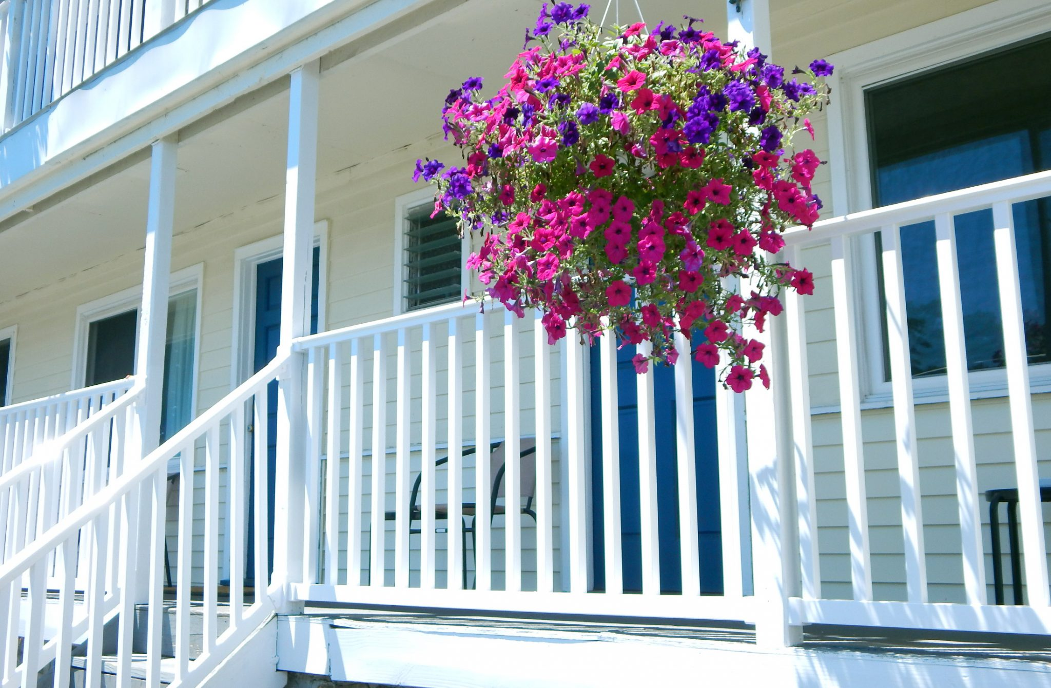 Outside porch with flowers